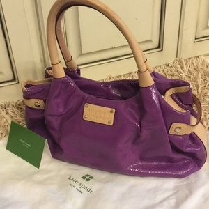 Kate Spade Purple Purse with Duster Bag